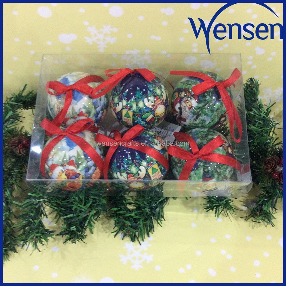 Wholesale colorful christmas ball tree ornaments with for Cheap christmas ornaments