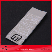 Customized Loop Fold Shoes Brand Label Woven Label with Exquisit Logo