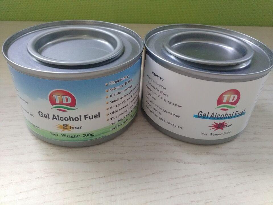 Amplamente utilizado gel de combustível de combustível chafing dish