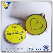 Discount offset Printing anti-lost pet id dog tag
