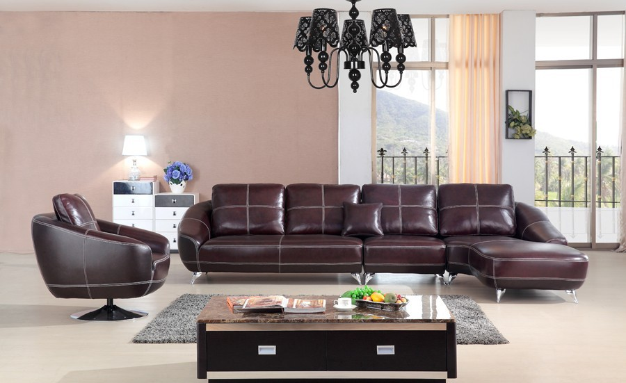 2015 New Design Sectional Sofa Leather Sofa Set Living