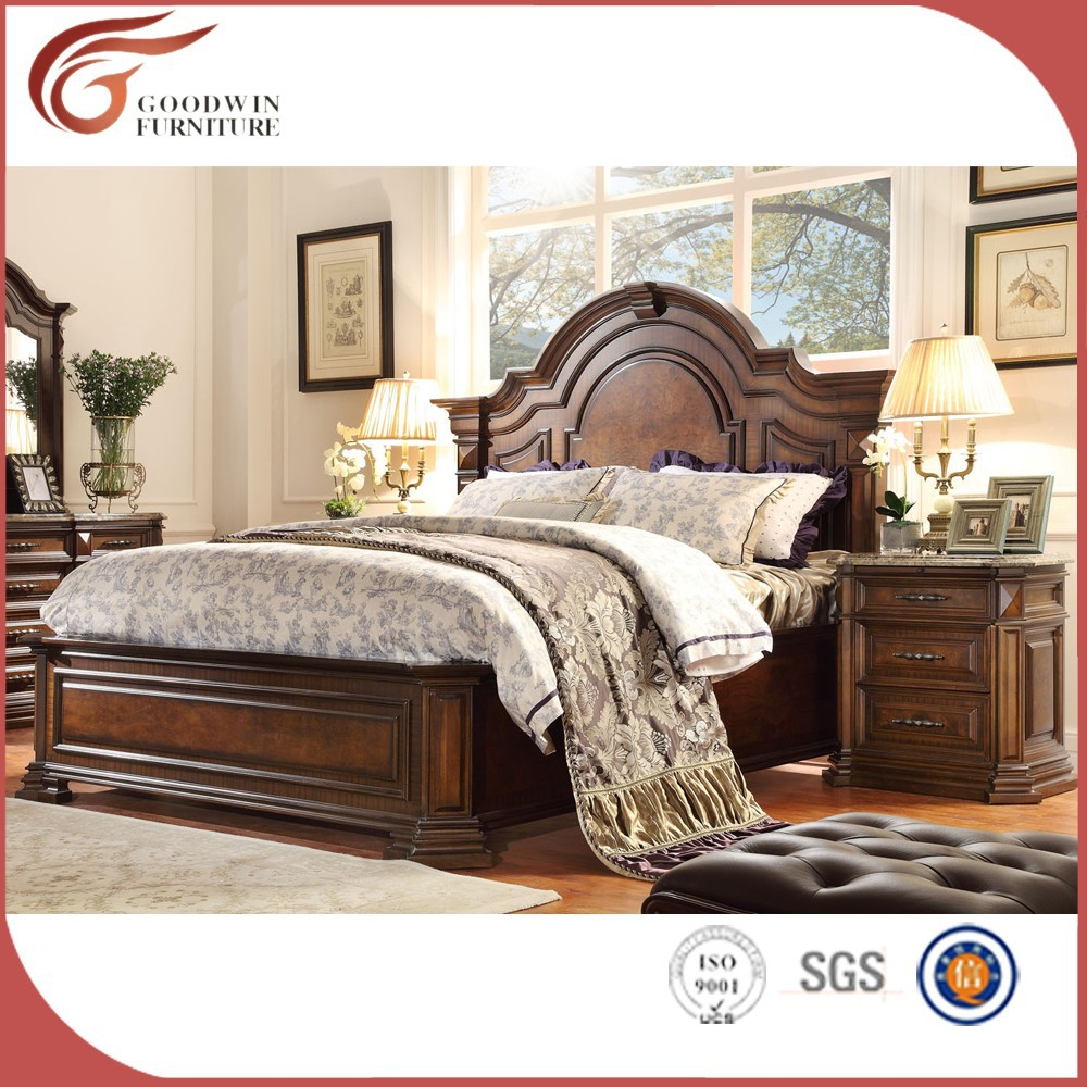 Hot Sale Antique Wood Furniture Classic Wood Bedroom Furniture WA150