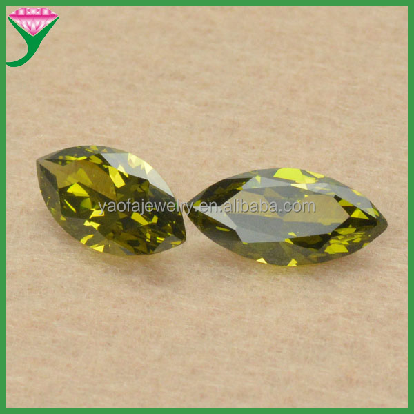 wholesale cut marquise faceted peridot zircon