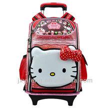 venta al por mayor de moda los niños chica adolescente trolley escuela de bolsas para los adolescentes
