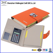 Multifunction High Quality pocket leather notebook with calculator