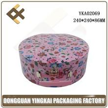 gloss lamination pink paper briefcase/hand-held storage box/empty travel case