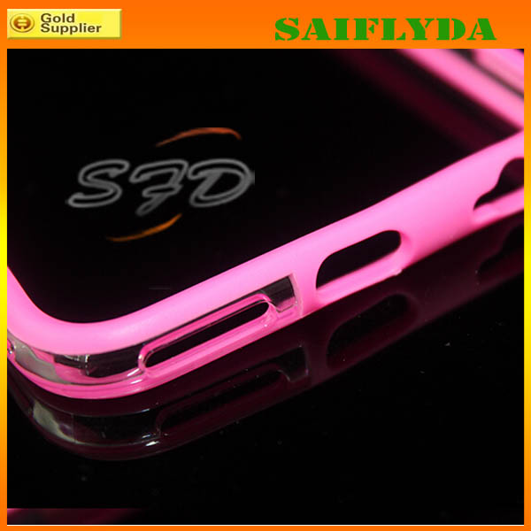 top quality colorful silicone bumper case for iPhone 6 tpu bumper phone case
