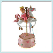 Best gifts resin carousel horse music box