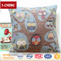 Hot Sale Creative Owl Design Printed Cushion Home Decor Pillow Case Custom Physical Therapy