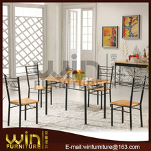 0261 Melamin chipboard 4 seater dining table set