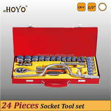 """1/2"""" Dr.24PCS Socket Set/High Quality CR-V Socket Set"""