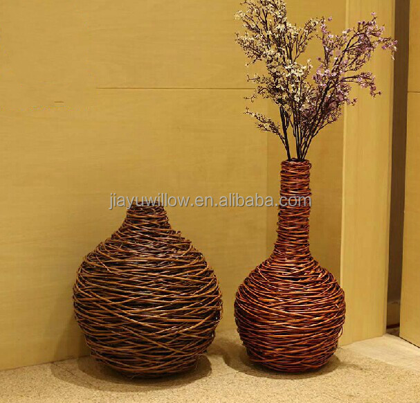 Handmade Wicker Decorative Flower Vase Flower Vase Handmade Designs