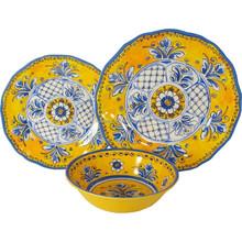 royal court antique printed round melamine reusable plastic dinnerware sets