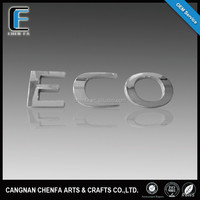 Custom 3D adhesive plastic chrome letter emblem car letter stickers