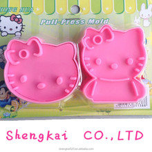 22PCS Little lovely cat shape Fondant Cake Cookie Decorating Sugarcraft Plastic mold Plunger Cutter cat mold