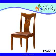 Fansheng antigo sala de jantar restaurante uso específico de borracha cadeira de madeira