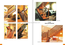 new arrival design customized design wood staircase home project stair / stair rail / wood stair