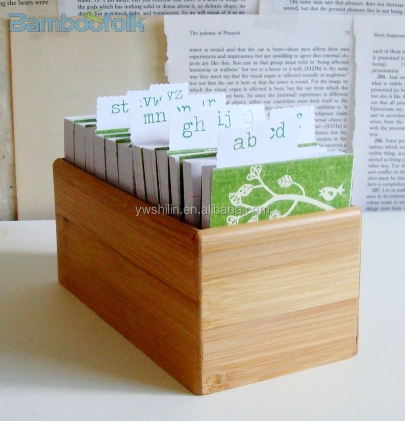 bambou bureau note bo te de rangement bambou a4 fichier dossier petite bo te en bambou. Black Bedroom Furniture Sets. Home Design Ideas