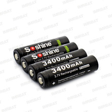 soshine 18650 3.7V 3400mAh protected PCB rechargeable li-ion battery