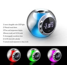 Natural sounds clock and led digital clock with light color change