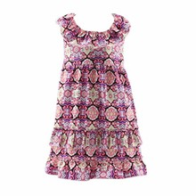 Baby girl party dress children frocks designs cotton flower ruffle dress party