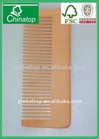natural wide teeth wooden hair comb, hair brush WHC031