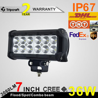 "36W 7"" 4x4 wholesale led lighting bar car off road led light bar"