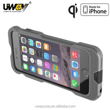 2015 hot selling dual color customized MFi certified qi charger for apple iphone case