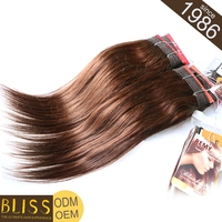 Hot Sales 100% Full Cuticle Virgin Brazilian Silky Straight Remy Human Hair We