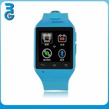 "[Blue]Bluetooth SmartWatch 1.54"" Touch Screen 2MP Camera TF GSM FM Sync Handsfree S19 smart watch phone"