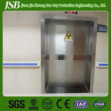 lead door with stainless-steel surface