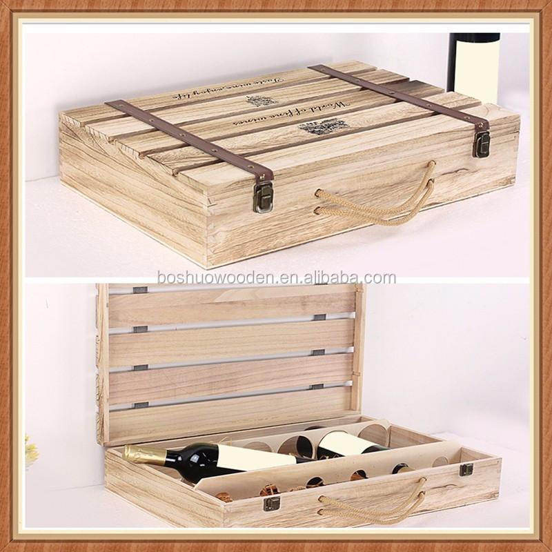 diferentes tipos de cajas de embalaje caja de embalaje del vino de regalo de madera de