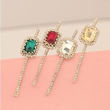 Fashion rhinestone crystal hair pin stone hairpin