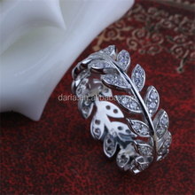 Fanciful leaf shape lucky ring for birthday gift 925silver fashionable jewelry rings jewelry