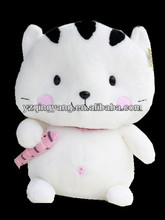 High quality and new design stuffed plush cat toy with fish in hands