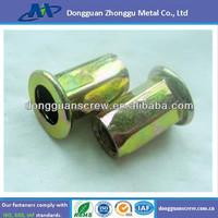M6 metal zinc plate standard hex blind rivet nut