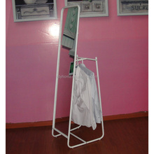 Clothes rack with mirror