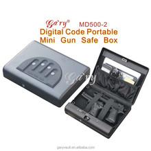 Wholesale- MD500 Micro Vault Digit Code Jewelry Car Gun portable security storage Mini steel Safe Box Mini Ipad safe / gun vault