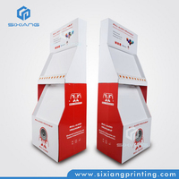 Full Color Printing Product Furniture Cardboard Floor Free Stand Display for Retail Store