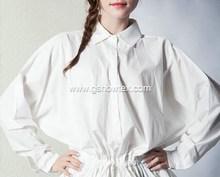 White office smart casual elastic waist blouse designs