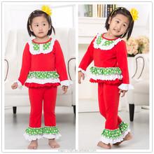 Ingrosso dei bambini boutique di abbigliamento, albero di natale del bambino applique ragazze arruffate natale abiti