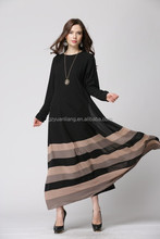 wholesale 2015 strips design kaftan ankle length chiffon ladies muslim evening dress cheap abaya 5 colors for option