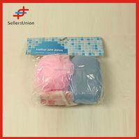 Nylon Mesh Hole Bath Ball Body Wash Scrubber Shower Pouf 3 Pc