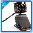 20.0 m pixel usb 6 led mic webcam pc câmera portátil drivers( cv176)