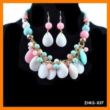 Bohemia capas collar de perlas colgante con pendientes establecidas