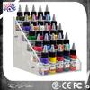 New design elegant tattoo ink pigment display stand, acrylic permanent makeup showing case display shelf/display rack