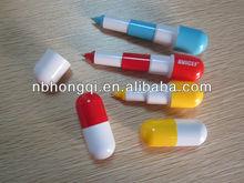 Printed Pill Pen/ Capsule shape Stretchable ballpoint pen