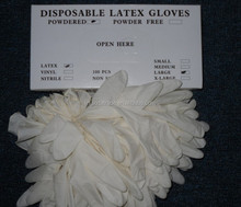 Disposable Latex Gloves Made of Malaysia Natural Rubber