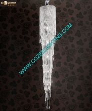 Modern LED Lighting Hotel Luxury Large Big Crystal Chandelier for Interior Stairwell Decoration CZ9307