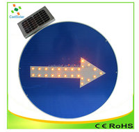 solar direction arrow sign road safety sign board